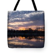 Violet Twilight On The Lake Tote Bag