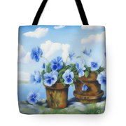 Violets On The Beach Tote Bag