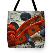 Violin Scroll Up Close Tote Bag