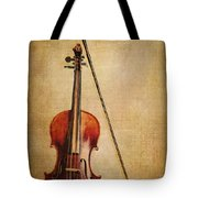 Violin With Bow Tote Bag