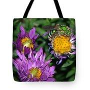 Virescent Metallic Green Bee Tote Bag