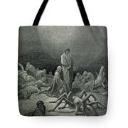 Virgil And Dante Looking At The Spider Woman, Illustration From The Divine Comedy Tote Bag