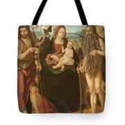 Virgin And Child Between St. John Tote Bag