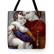Virgin And Child Circa 1856  Tote Bag by Aged Pixel