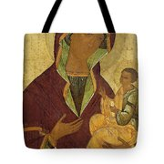 Virgin And Child Tote Bag by Russian School
