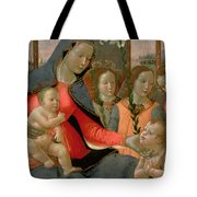 Virgin And Child With St John The Baptist And The Three Archangels Tote Bag