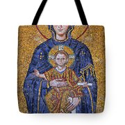Virgin Mary And Christ Child Tote Bag