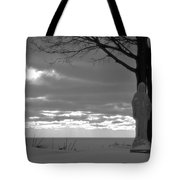 Virgin Mary At Sunset In South Haven Michigan Tote Bag
