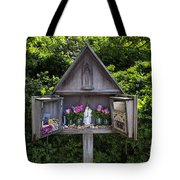 Virgin Mary Shrine Tote Bag
