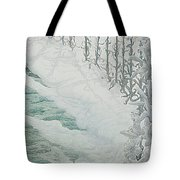 Virgin Of The Lilies Tote Bag by Carlos Schwabe