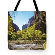 Virgin River In Zion National Park Tote Bag