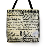 Virginia Banknote, 1781 Tote Bag