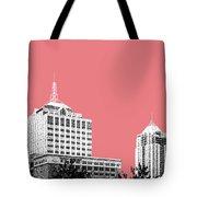 Virginia Beach Skyline - Light Red Tote Bag