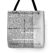 Virginia: Constitution Tote Bag