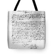 Virginia Council, 1778 Tote Bag