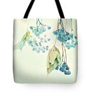 Virginia Creeper Berries Tote Bag by Theresa Tahara