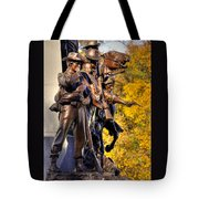 Virginia To Her Sons At Gettysburg - War Fighters - Band Of Brothers 1a Tote Bag