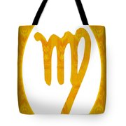 Virgo And Solar Chakra Abstract Spiritual Artwork By Omaste Witk Tote Bag