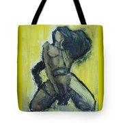 Virgo Nude Woman In Yellow Tote Bag