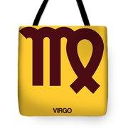 Virgo Zodiac Sign Brown Tote Bag