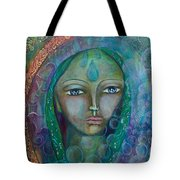 Visioning Woman Of Living Waters Tote Bag