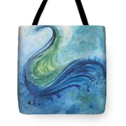 Peacock Vision In The Mist Tote Bag
