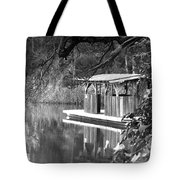 Visit To The Gator Hole Tote Bag