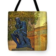 Visit To The Thinker Tote Bag