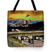 Visiting Spokane Tote Bag