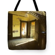Visitor At The Meade Hotel Tote Bag