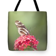 Visitor In The Garden Tote Bag