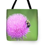 Visitor On Thistle Tote Bag