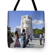 Visitors At The Martin Luther King Jr Memorial Tote Bag