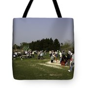 Visitors Having A Good Time At The Blair Drummond Safari Park Tote Bag