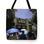 Visitors Thronging The Jurassic Park Rapids Adventure Ride Tote Bag