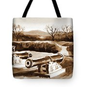 Visitors Welcome In Sepia Tote Bag