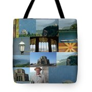 Vista House Collage Tote Bag