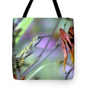Vitality Of A Hummingbird Tote Bag