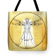 Vitruvian Cyberman Tote Bag