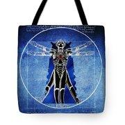 Vitruvian Cyberman In Deep Space  Tote Bag