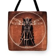Vitruvian Cyberman On Mars Tote Bag