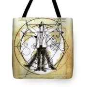 Vitruvian Dr Who Tote Bag