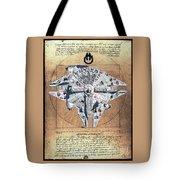 Vitruvian Falcon Millenium Tote Bag