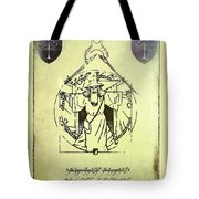 Vitruvian Gandalf The White Tote Bag