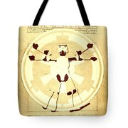 Vitruvian Stormtrooper Ghost Tote Bag