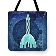 Vitruvian Tintin In Space Tote Bag by Helge