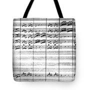 Vivaldi Manuscript Tote Bag