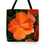 Vivid Orange Vermillion Impatiens Flower Tote Bag