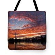 Vivid Skyscape - Summer Sunset At Toronto Beaches Marina Tote Bag