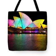 Vivid Sydney 2014 - Opera House 1 By Kaye Menner Tote Bag